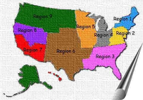 Region Map of the US